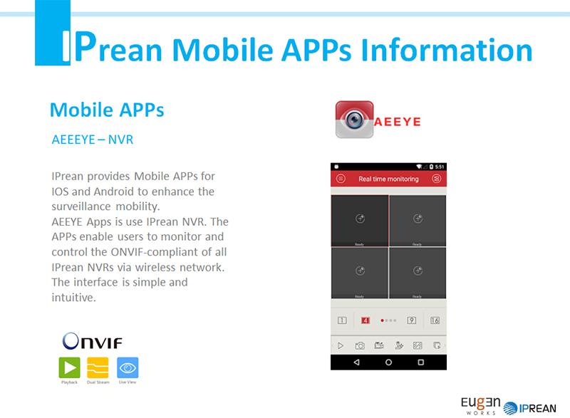 아이피리언 > SOFTWARE > [4K NVR Mobile APPs] AEeye